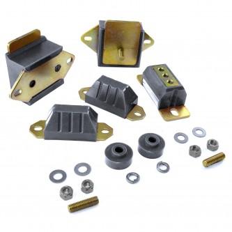 Transmission/Engine Drivetrain Kit, Black; 76-86 Jeep CJ5/CJ7/CJ8