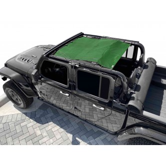 Fits Jeep Gladiator JT, 4 Door, Teddy® Top, Solar Screen, 2019-Present.  Green. Made in the USA.