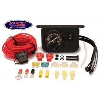 Illuminated Dash Panel Gauge Kit 20 Amp Black Face 10061 Viair