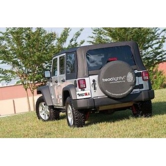 TL-12801.01 Rugged Ridge Black Tready Lightly! Spare Tire Cover For 27-29 Inch