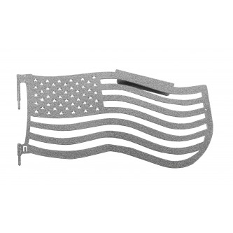 Fits Jeep Wrangler JK, 2007-2018.  Premium Trail Doors.  Front door kit.  Gray Hammertone.  Made in the USA. 'Flag Style' design.