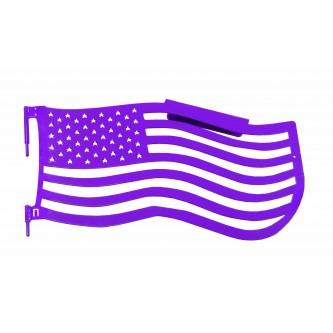 Fits Jeep Wrangler JK, 2007-2018.  Premium Trail Doors.  Front door kit.  Sinbad Purple.  Made in the USA. 'Flag Style' design.