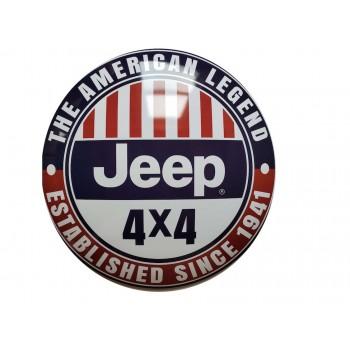 15'' Tin Sign Jeep 4x4