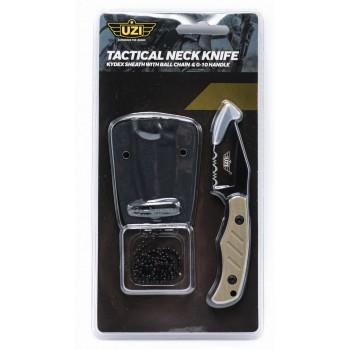 Uzi Neck Knife G10 Handle, Hydex Sheath, Desert