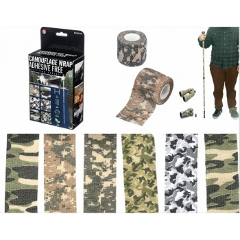 Camouflage Wrap, Adhesive Free. 6 pieces per kit.