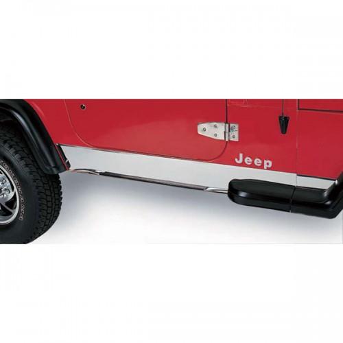 Rocker Panel Pair Stainless for Jeep Wrangler TJ 1997-2006 11145.02 Rugged Ridge