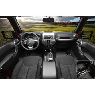 Interior Trim Accent Kit, Charcoal, Manual; 11-18 Jeep Wrangler JK