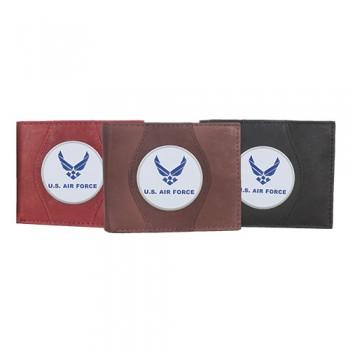 Leather Wallet - U.s. Air Force Wings