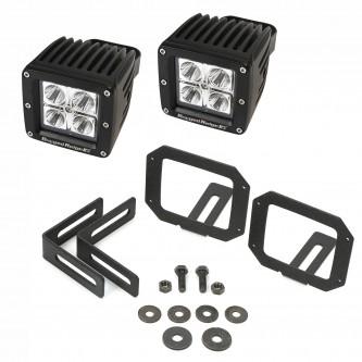 11232.28 Rugged Ridge Square LED Light And Mounting Kit Jeep Wrangler JK 2007-2014