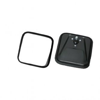 Rugged Ridge 11002.02 SQUARE MIRROR HEAD, BLACK, 55-86 CJ WITH CONVEX MIRROR GLASS FOR PASSENGER SID