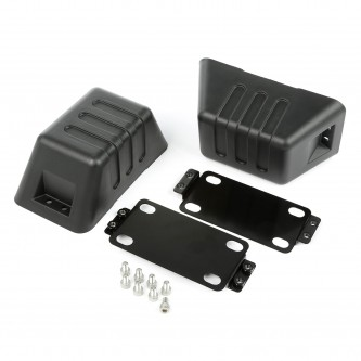 11540.26 Rugged Ridge XHD Bumper Tow Point Cover, 2007-2015 Jeep Wrangler