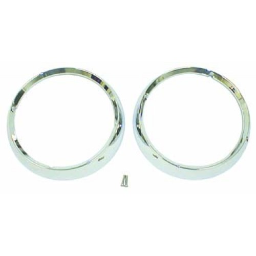 Headlight Bezel Pair, 72-86 Jeep CJ