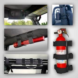 12495.01 Interior Roll Bar Trim Kit, Black, 7 Piece Kit, Jeep CJ 76-86, Wrangler 87-06, Includes: Ul