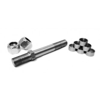 SS-04, Rod End Studs, Install Your Own, 1/4-28 RH, Straight Style