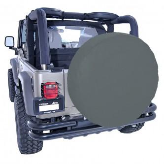 Spare Tire Cover, 35-36 Inch, Black Denim