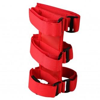 Red Sport Roll Bar Fire Extinguisher Holder for Jeep Wrangler CJ YJ TJ JK JL