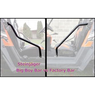 Polaris RZR S 800 Side Bar Big Boy Kit, 2008-2014. Made in the USA. Powder Coated Black
