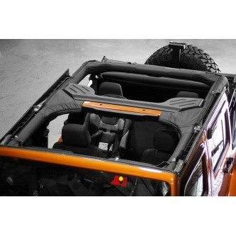 Rugged Ridge 13613.05 Roll Bar Cover, Black, Vinyl,2007-2012 Jeep Wrangler (JK) 4-Door