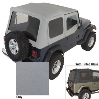 Soft Top Door Skins Charcoal Tinted Windows for Jeep Wrangler YJ 88-95 13702.09