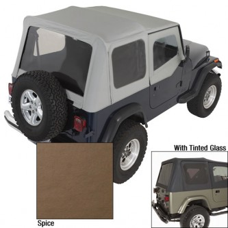 Soft Top Door Skins Spice Tinted Windows for Jeep Wrangler YJ 88-95 13702.37
