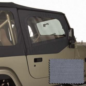 Upper Soft Door Kit Gray Jeep Wrangler YJ 88-95 13713.09 Rugged Ridge