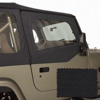 Rugged Ridge 13713.35 Upper Soft Door Kit, Front Pair, Black Diamond,Includes: Door Skins and Frames