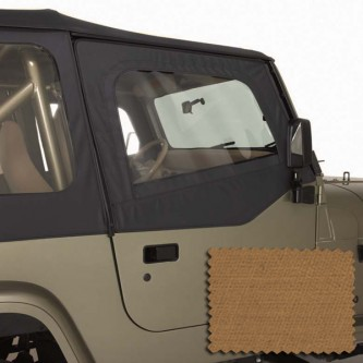 Rugged Ridge 13713.37  Upper Soft Door Kit, Front Pair, Spice, Includes: DoorSkins and Frames, Jeep