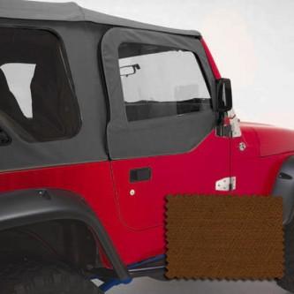 Rugged Ridge 13714.33   Upper Soft Door Kit, Front Pair, Dark Tan, Includes:Door Skins and Frames, J