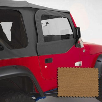 Rugged Ridge 13714.37  Upper Soft Door Kit, Front Pair, Spice, Includes: Door Skins and Frames, Jeep