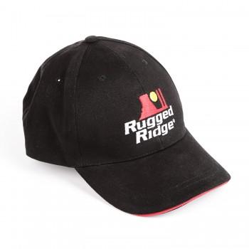 Hat Black & Red Adjustable Rugged Ridge 14080.28