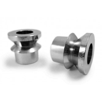 HMBV-12-8-A, Rod End Misalignment Inserts, fits 3/4 Rod End Bore, 1/2 Insert Bore Size, V Style Chrome Plated Steel