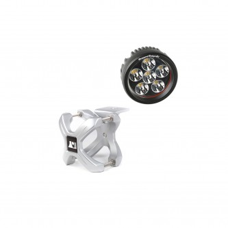 15210.13 Rugged Ridge X Clamp and Round LED Kit, 1 Piece, Silver