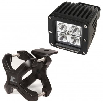 15210.21 Rugged Ridge Black X-Clamp With LED Cube Light For 1.25