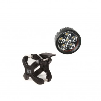 15210.24 Rugged Ridge Black X-Clamp With Round LED Light For 1.25
