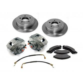 Premium Front Disc Brake Service Kit for Jeep Wrangler TJ 2000-06 16762.01 Omix