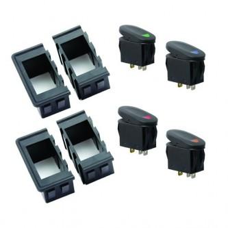 17235.89  Rugged Ridge Rocker Switch Housing Kit, Universal Application. Includes Four Interlocking