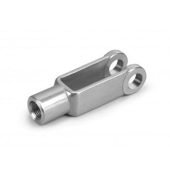 2800, Clevis and Yoke Ends, Female, 10-32 RH, 0.188 Pin Holes Bare Metal Forged Construction
