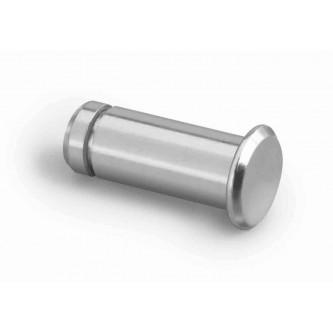CPGM10, Clevis Spring Pins, Clips and Cotters, Clevis Pins, 10mm, Grooved Style Zinc Clear (Silver) Plating