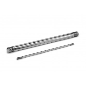 TR10-280, Rods, Threaded, M10 x 1.50 LH/RH, 280 mm Long, Plated Steel with 75 mm of thread length on each end