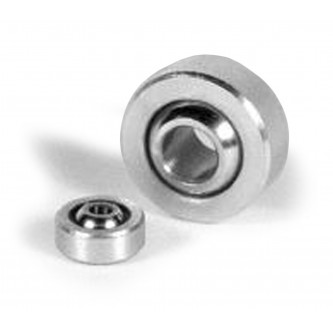 COM-03, Bearings, Spherical Plain, 0.190 inch dia Bore, 0.5625 inch outer diamater, 0.281 inch width Plated Housing, Steel Race