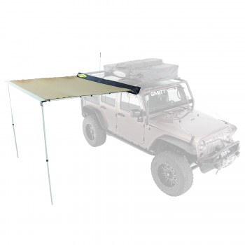 Overland 8.2 Foot x 6.2 Foot Tent Awning Coyote Tan Smittybilt 2784