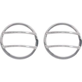 Front Marker Covers pair Polished Stainless Jeep Wrangler JK 2007-2016 K30009 Kentrol