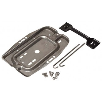 Battery Tray Kit Stainless for Jeep CJs 1976-1986 Rough Trail RT34020