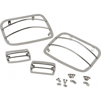 Light Guard Set 4 pieces Polished Stainless Jeep Wrangler YJ 1987-1995 30558