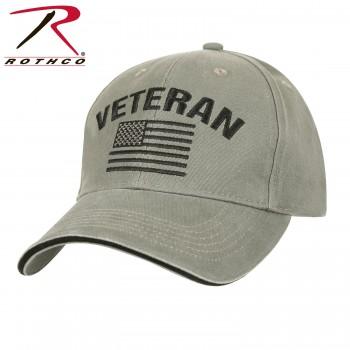 Vintage US Flag Veteran Low Profile Baseball Cap Hat Ballcap Rothco 3599