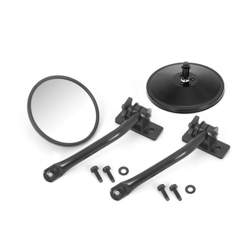 Quick Side Mirror PAIR for Jeep Wrangler TJ JK 1997-2018 Black Quick Release