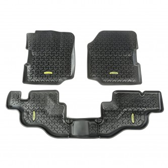 Outland 391298709 Black Front and Rear Floor Liner Kit For Select Jeep CJ7 and Wrangler Models