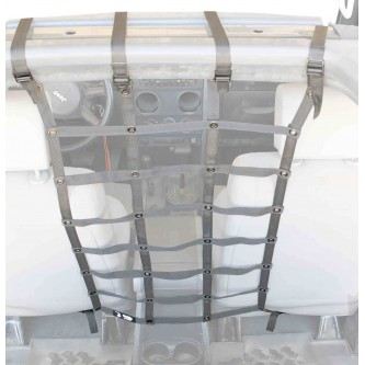 Gray Front Seat Dog Partition For Jeep Wrangler JK 2007-2018 Steinjager J0044983