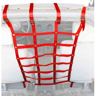 Red Front Seat Dog Partition For Jeep Wrangler JK 2007-2018 Steinjager J0044982