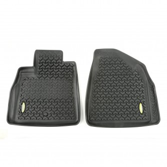 Outland 398290103 Black Front Row Floor Liner For Select Buick Enclave, Chevrolet Traverse, GMC Acadia and Saturn Outlook Models